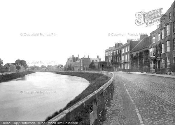Photo of Wisbech, North Brink 1923