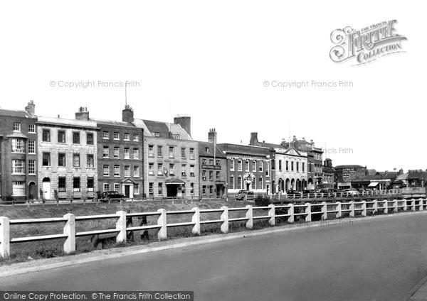 Photo of Wisbech, North Brink c.1950