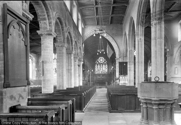 Photo of Wisbech, Parish Church, Interior 1923