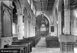Wisbech, Parish Church, Interior 1923