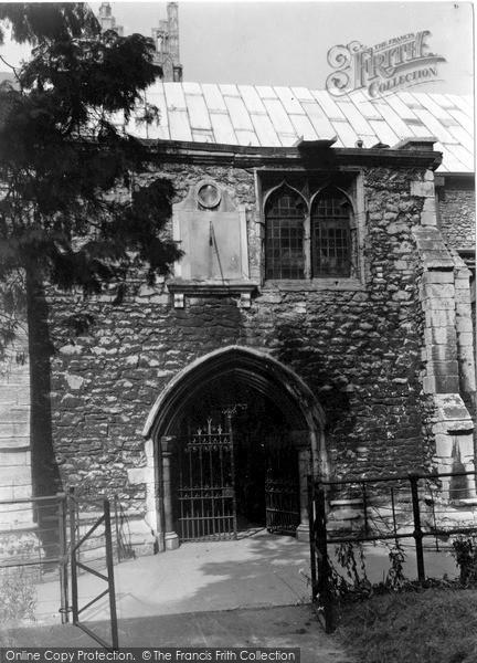 Photo of Wisbech, South Door, St Peter's Church c.1950