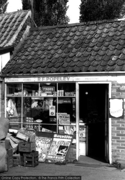 Photo of Wisbech St Mary, General Stores Entrance  c.1960