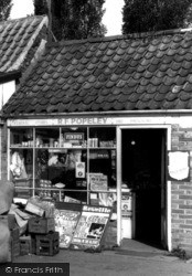 Wisbech St Mary, General Stores Entrance  c.1960