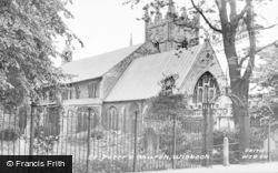 Wisbech, St Peter's Church c.1955