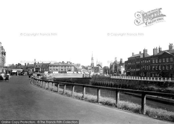 Photo of Wisbech, The Bridge And River c.1950