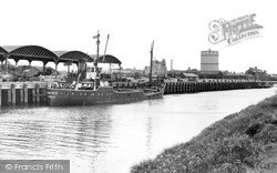Wisbech, The Docks And Timber Yards c.1955