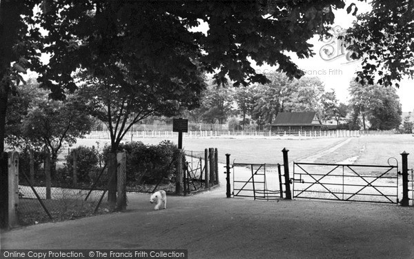 Photo of Wisbech, The Park Entrance c.1955