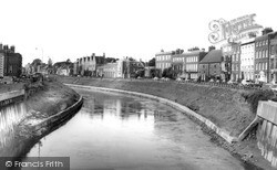 Wisbech, The River Nene And North Brink c.1965