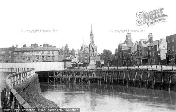 Wisbech, view from North Brink 1901
