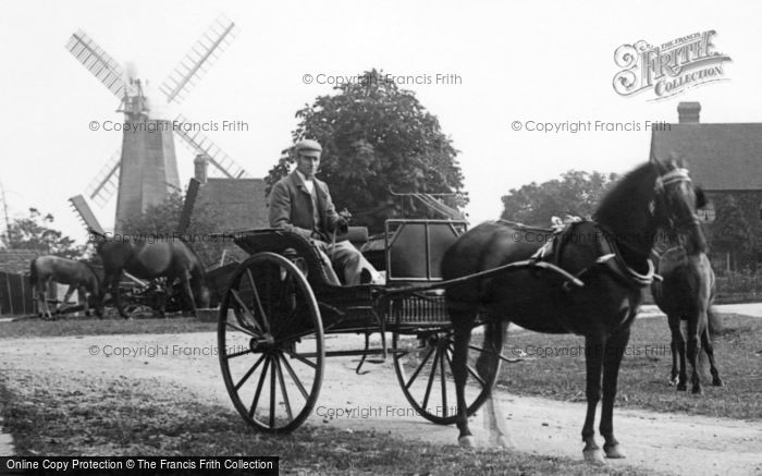 Photo of Wisborough Green, Horse And Carriage 1896