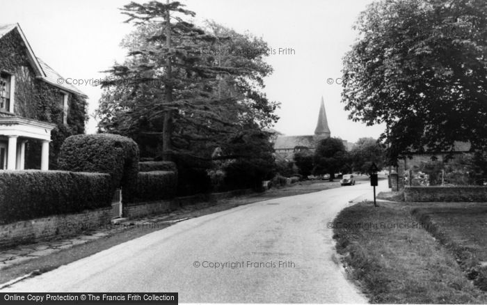 Photo of Wisborough Green, Road To The Church c.1965