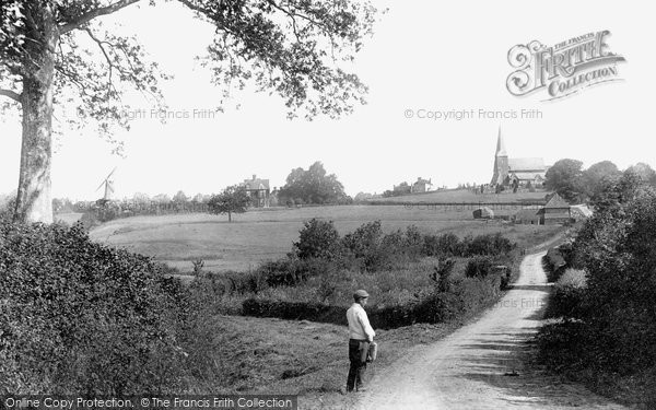 Wisborough Green,the Church, Village and Windmill 1896,Sussex