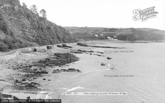 Photo of Wisemans Bridge, The Beach c.1960