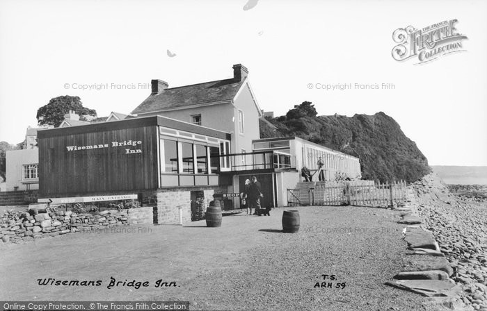 Photo of Wisemans Bridge, Wisemans Bridge Inn c.1965