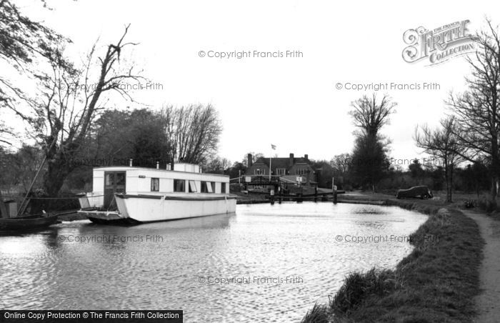 Photo of Wisley, The Canal c.1955