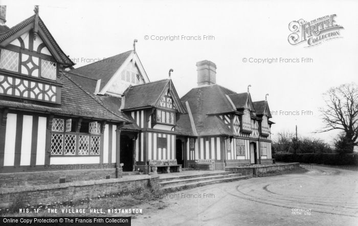 Photo of Wistanstow, The Village Hall c.1960