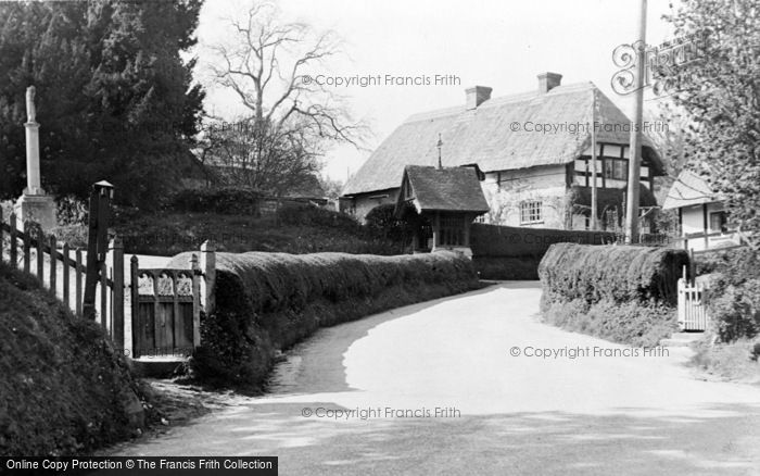 Photo of Witchampton, Village And Church Gate c.1950