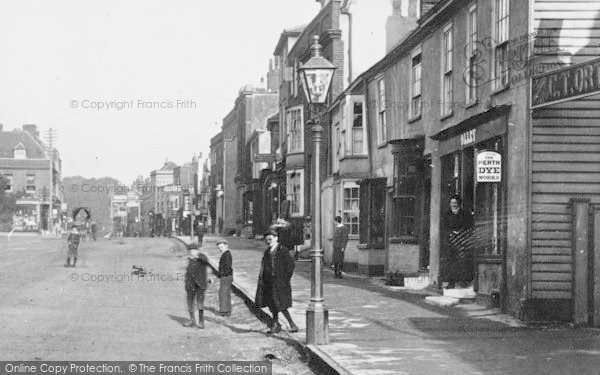 Photo of Witham, Boys In The High Street 1900