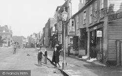 Witham, Boys In The High Street 1900