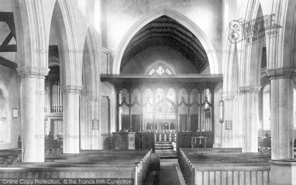 Photo of Witham, Church Interior 1900