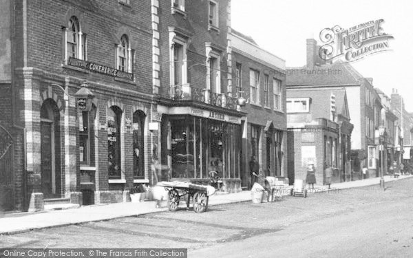 Photo of Witham, High Street Businesses 1900