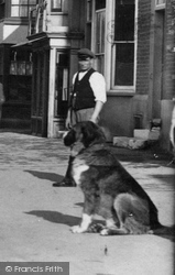 Witham, Man And Dog In Newland Street 1900