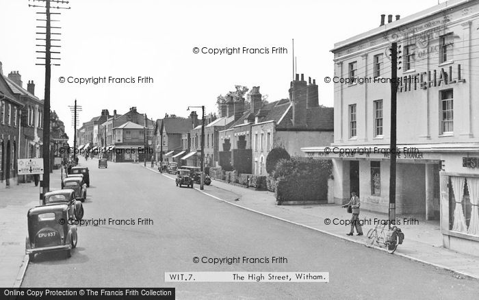 Photo of Witham, The High Street c.1950