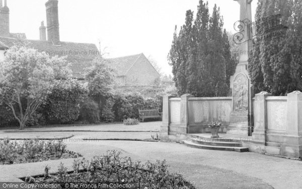 Photo of Witham, The Memorial c.1965