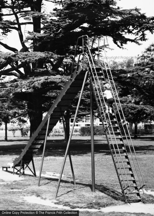 Photo of Witham, The Park, Child Mounting Slide c.1965