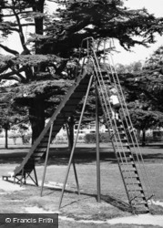 Witham, The Park, Child Mounting Slide c.1965