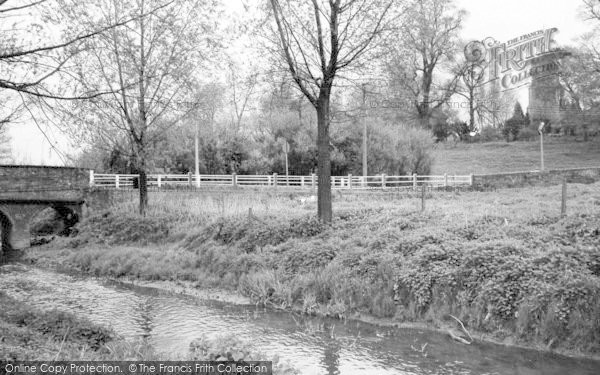 Photo of Witham, The River And Church c.1965