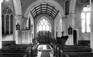 Witheridge, St John Baptist Church interior c1960