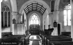 St John Baptist Church Interior c.1955, Witheridge