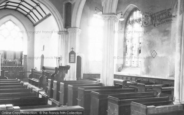 Photo of Witheridge, The Church Interior c.1955