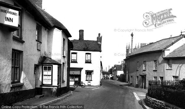 Witheridge, Trafalgar Square and Hare and Hounds Inn c1955