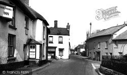 Trafalgar Square And Hare And Hounds Inn c.1955, Witheridge