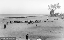 Withernsea, Donkeys On The Beach c.1965