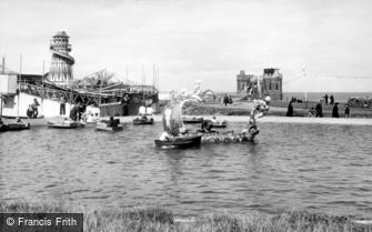 Withernsea, Pier Towers and Boating Lake c1955