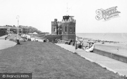 Withernsea, The Beach And Tower c.1960