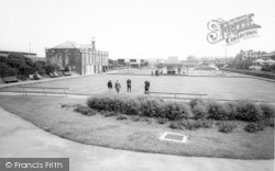 Withernsea, The Bowling Green And Miniature Golf Course c.1965