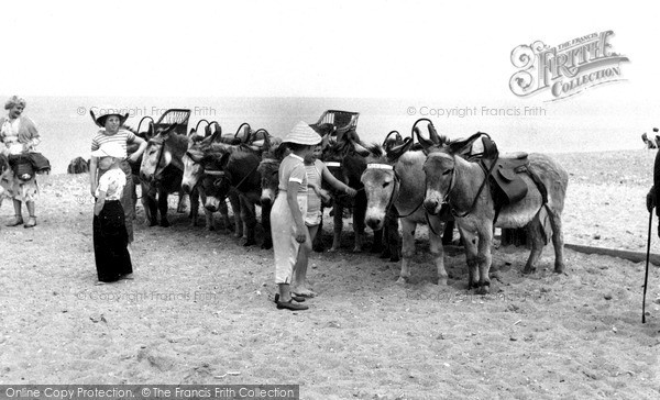 Photo of Withernsea, The Donkeys c.1955