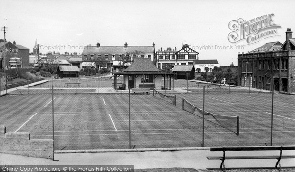 Photo of Withernsea, The Tennis Courts And Bowling Green c.1955