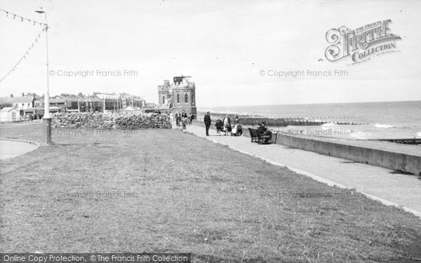 Photo of Withernsea, The Towers And Promenade c.1955