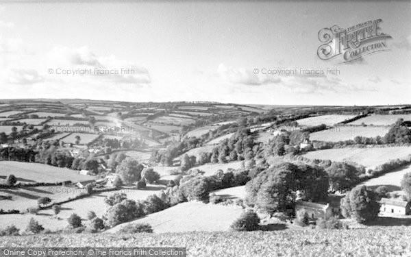 Photo of Withypool, From Bradley Ham c.1955