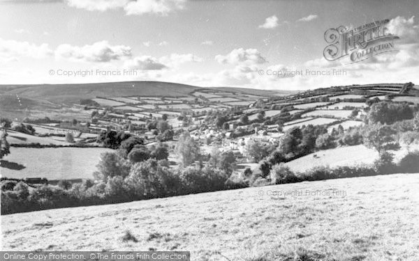 Photo of Withypool, From Uppington c.1955
