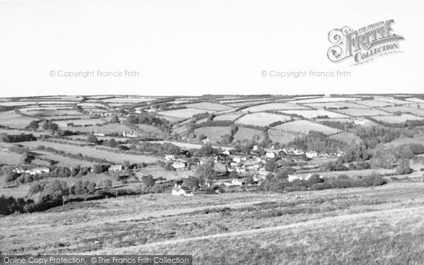 Photo of Withypool, From Withypool Hill c.1955