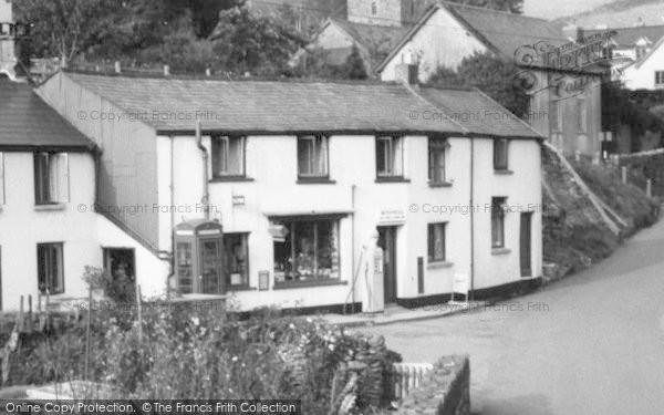 Photo of Withypool, Post Office Corner c.1965