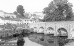 The Bridge And Post Office c.1965, Withypool