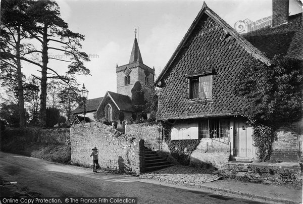 Photo of Witley, All Saints Church And Cottage 1919