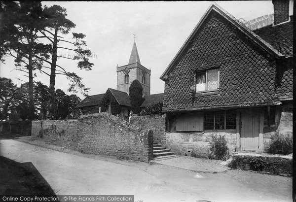 Photo of Witley, All Saints Church  And Old Houses 1898